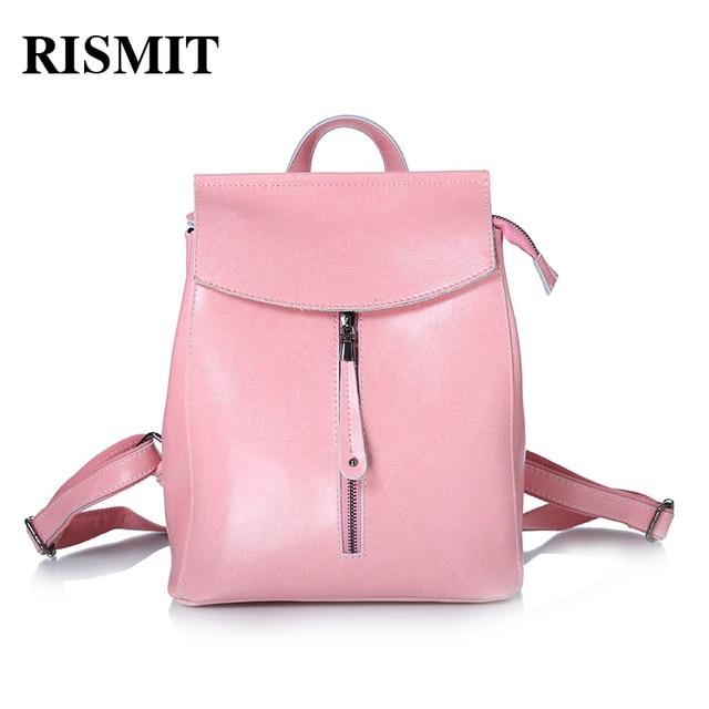 072169eec432 РАСПРОДАЖА RISMIT Модный Женский рюкзак из натуральной кожи высокого  качества BO91