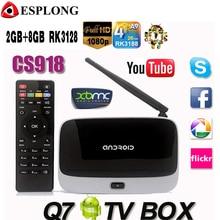 Q7 Android 4.4 TV Box CS918 Full HD 1080 P RK3128 Quad Core Media Player 2 GB/8 GB XBMC KODI Wifi Bluetooth Smart TV Box