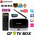 Q7 CS918 Android 4.4 Caixa de TV Full HD 1080 P RK3128 Quad núcleo Media Player 2 GB/8 GB XBMC KODI Wifi Bluetooth Smart TV Box