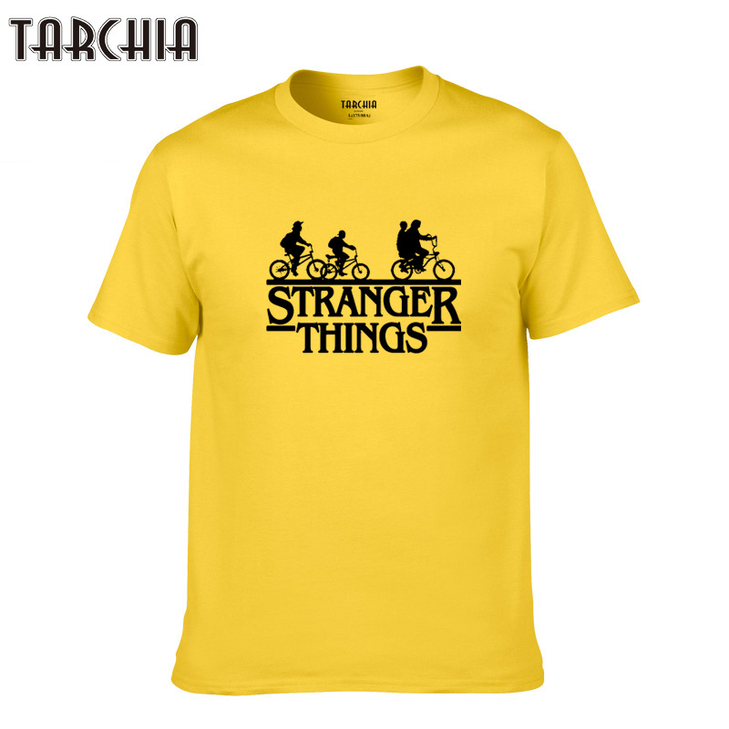 TARCHIA cotton top tee tshirt t shirt plus casual homme new 2019 boy summer brand t-shirt men stranger things new short sleeve