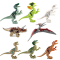 8Pcs Jurassic World Park Mini Dinosaur Building Blocks Figures Super Heroes Bricks Kids Baby Toys For Children legoeINGlys