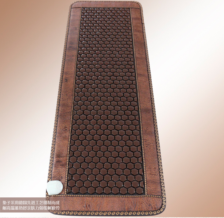 Good & Free shipping! Natural Jade cushion germanium stone tourmaline heated mat health care physical therapy mat 50cmX150cm korea natural thermal massage bed jade tourmaline health care germanium electric heating cushion physical therapy mat 1 2x1 9m