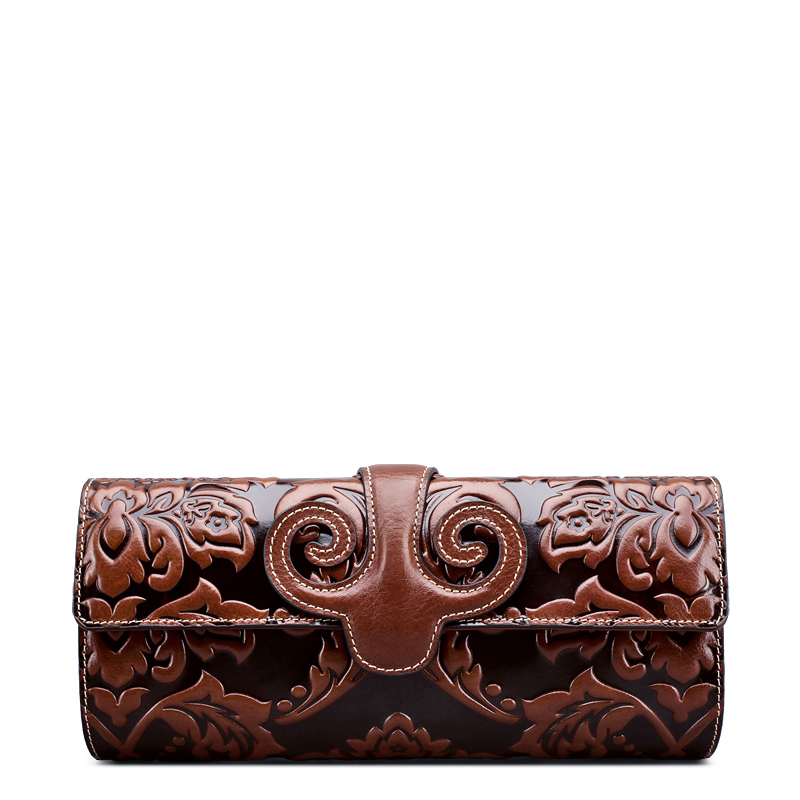 Fashion Designer Leather Wallets Ladies Clutchs Genuine leather purses cross body bags