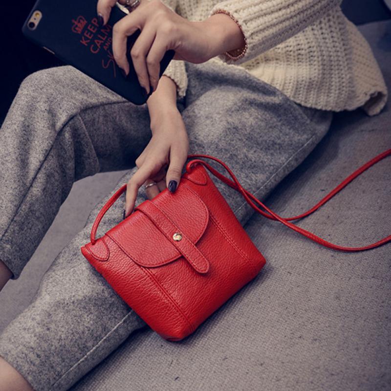 New Vintage Women Handbag PU Leather Flap Style Crossbody Bag Lady Satchel Shoulder Bag Small Messenger Bag Girls Handbag