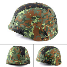 лучшая цена One Piece Military Tactical Camo Hunting Helmet Protective Cover for M88 PASGT Kelver Swat Helmet Cover For Men