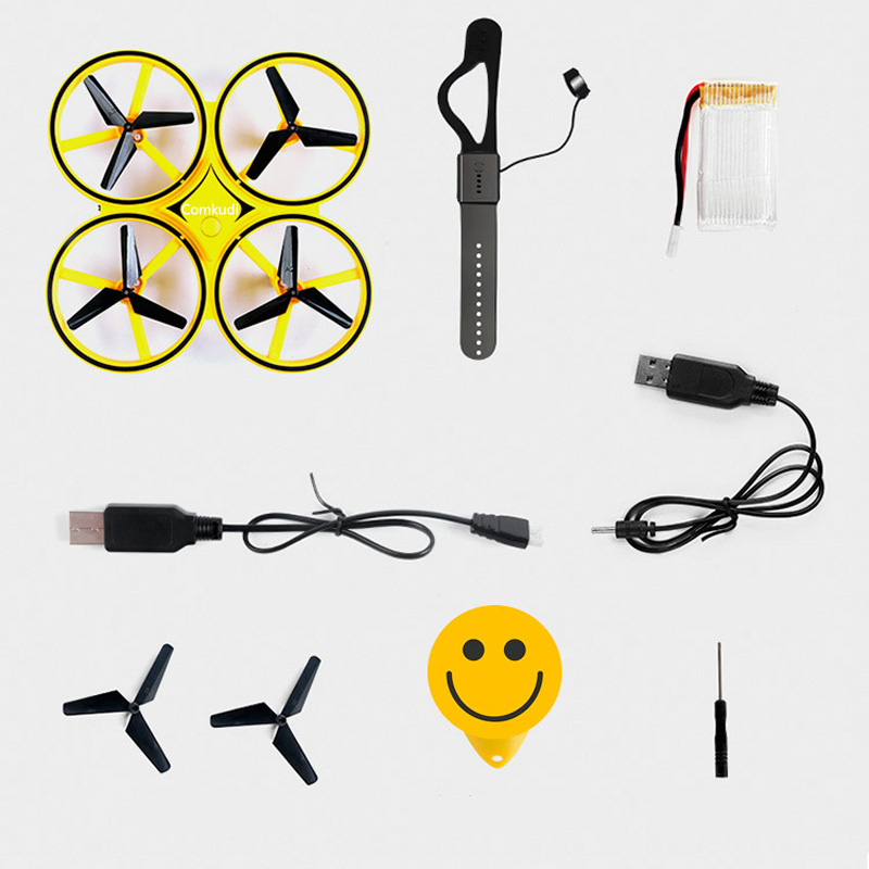 Image 5 - 2019 New Product Body Sensing Watch Induction Aircraft Gesture Control Unmanned Aerial Vehicle Sensing Four axis Aircraft-in Drone Accessories Kits from Consumer Electronics