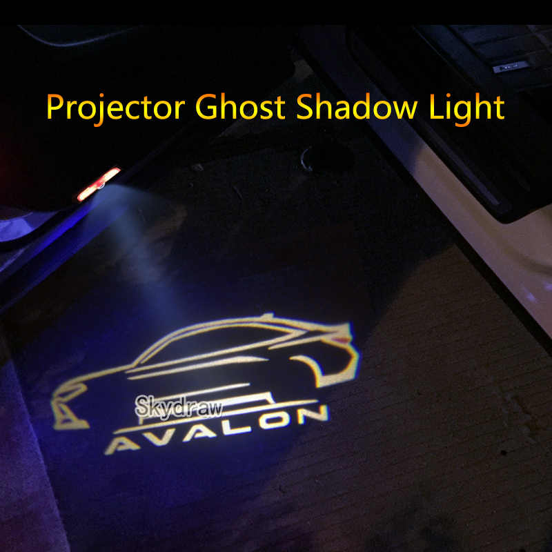 2 Piece For TOYOTA AVALON (2012-2019) Car LED Door Warning Light Projector Ghost Shadow Light Welcome Light (Logo Customizable)