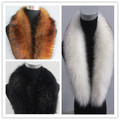 Autumn and winter men women's Ultralarge raccoon fur shawl collar faux fur scarf faux fox fur scarf thicken warm scarf
