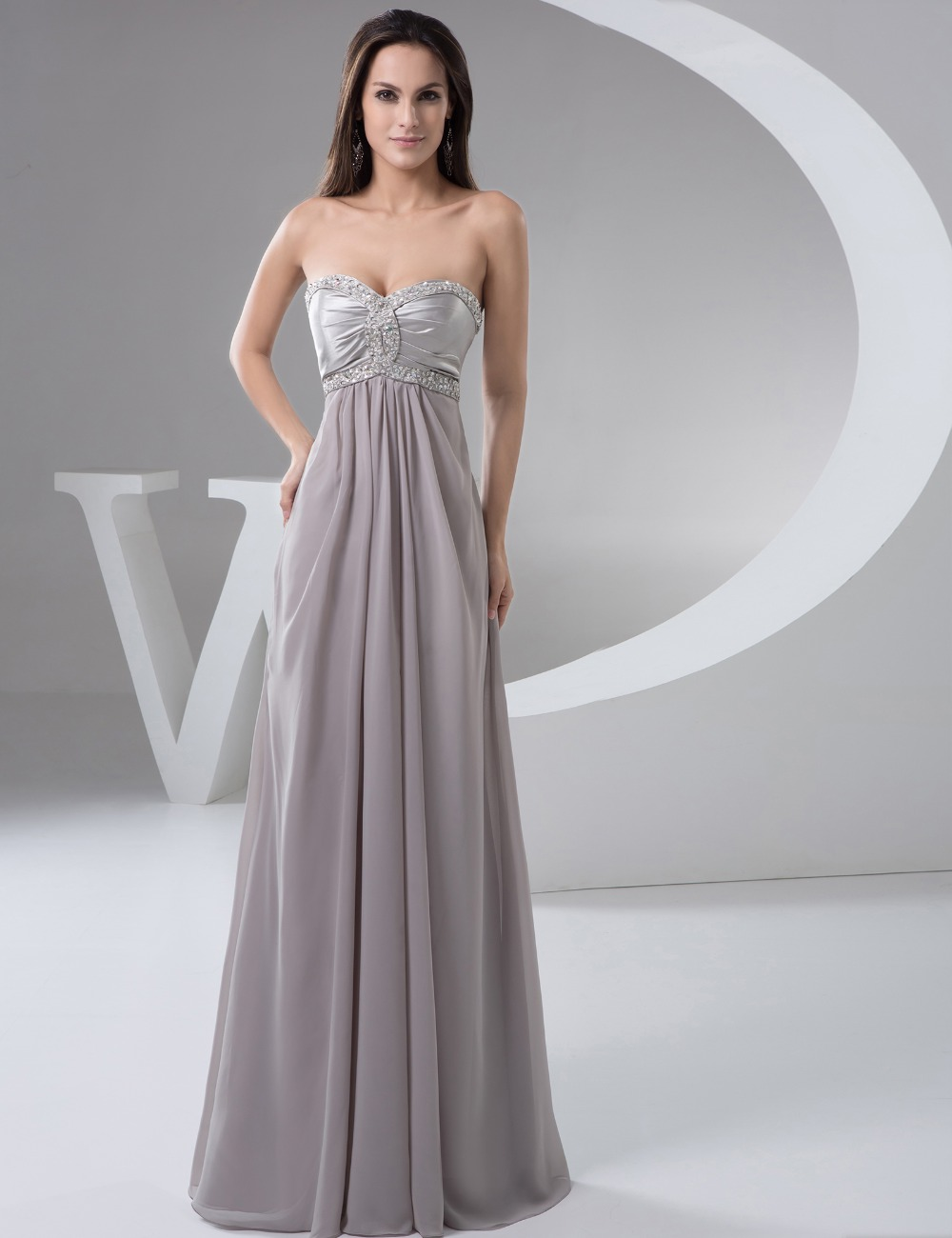 Online get cheap grey bridesmaid dresses for Grey dress wedding guest