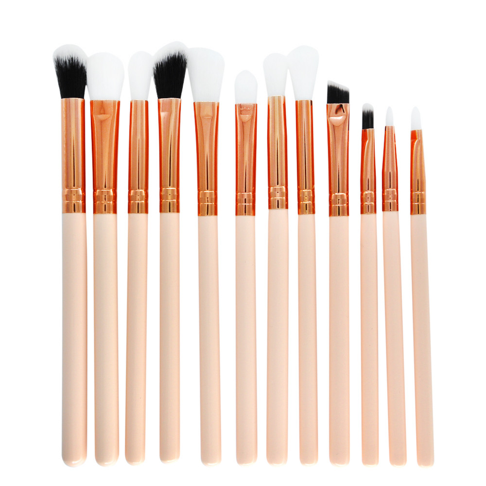 Eyeshadow Brush Makeup-Brush-Set Professional Foundation-Blush Eyeliner Face 12pcs Box