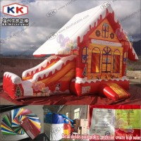 inflatable Christmas bouncer castle / Santa bouncer game / inflatable X'mas playground