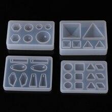 Resina líquida molde de silicona DIY espejo triángulo geométrico artesanía resina epoxi para hacer joyería COLLAR COLGANTE decorativo pastel