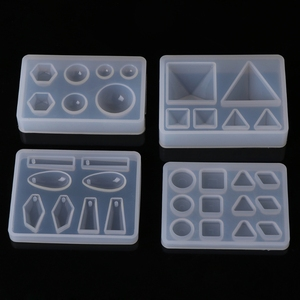 Liquid Resin Silicone Mold DIY Geometric Triangle Mirror Craft epoxy resin for Jewelry Making necklace pendant Decorative Cake(China)