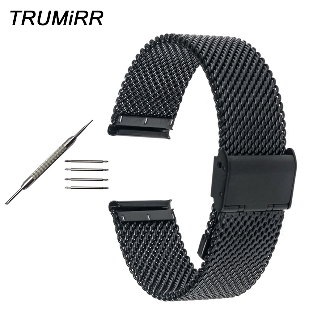 Milanese Watchband for Tissot 1853 T035 <font><b>PRC</b></font> <font><b>200</b></font> T055 T097 Mesh Stainless Steel Watch Band Strap Bracelet 18mm 20mm 22mmm 24mm image