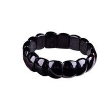 Фэн-шуй браслет из бисера, исцеляющий натуральный камень, черный обсидиана, бусы W3051