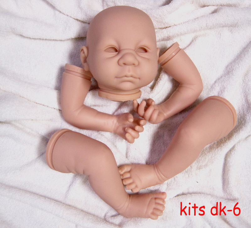 cute face DK-6 DIY Mold Silicone Reborn Dolls Kit Mold 20 inch baby Toys Accessories For 50cm baby Doll Kit for girls kids gifts little cute flocking doll toys kawaii mini cats decoration toys for girls little exquisite dolls best christmas gifts for girls