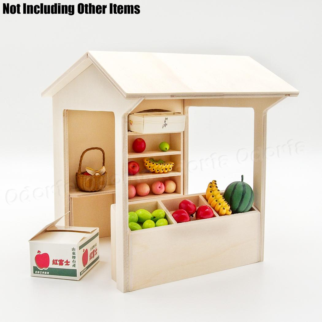 Shelving Shop Us 21 98 Odoria 1 12 Miniature Wooden Stall Shelving Store Display Shop Showcase Self Assembly Dollhouse Furniture Accessories In Furniture Toys