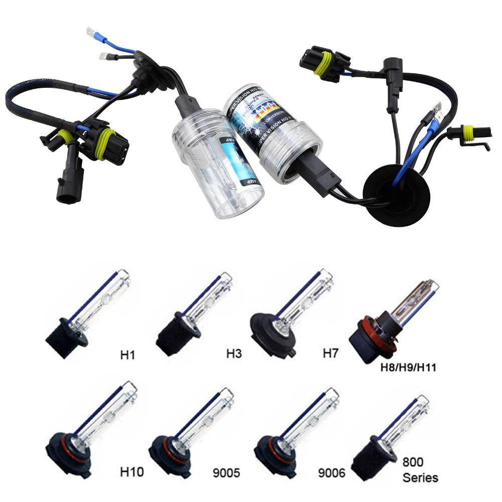 55W Xenon HID Kit Car Headlight Bulbs Slim Ballast H1 H3 H4 2 H7 H8 H9 H11 H16 9005 9006 4300K12000K In BulbsLED From Automobiles