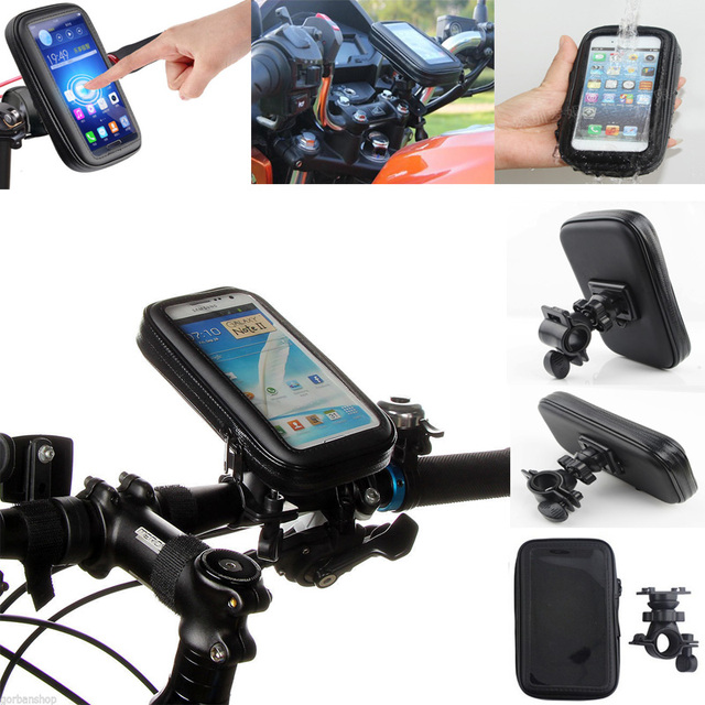 """5.5"""" inch Bicycle Bike Mobile Cell Phone Motorcycle Water Waterproof Bag Holder Mount for Smartphone Moto Motorbike Stand Case"""