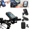 "5.5 ""pulgadas bicicleta motocicleta teléfono celular móvil de agua impermeable del sostenedor del caso del soporte de montaje para smartphone moto moto"
