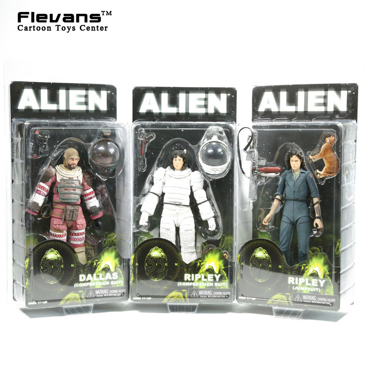 NECA Alien Dallas Riple PVC Action Figure Collectible Model Toy 7 18cm 3 Styles neca alien lambert compression suit aliens defiance xenomorph warrior alien pvc action figure collectible model toy 18cm