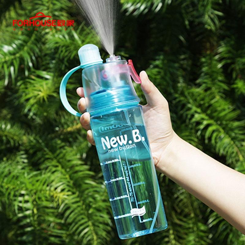 Spray Sports Water Bottle BPA Free Leak Proof Hiking Portable Bottles Bicycle Cycling 400ML/600ML Drinking Bottles Shaker