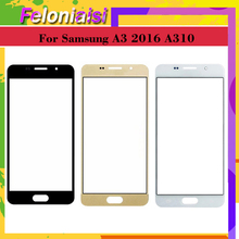 10pcs/lot For Samsung Galaxy A3 2016 A310 A310F SM-A310F A310M Front Outer Glass Lens Touch Screen Panel Replacement цена и фото