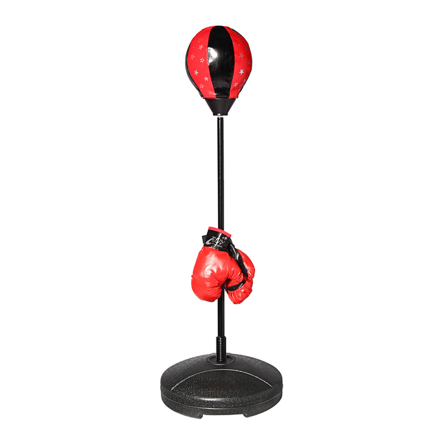 s size adjustable standing punching bag boxing gloves ball adults