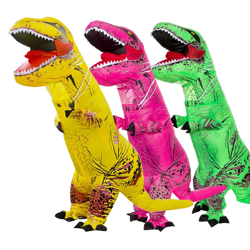Inflatable Dinosaur Costume - Adult Giant Jurassic T-Rex Blow Up Halloween Costume kids teans giant skeleton inflatable dinosaur costume t rex blow up fancy dress