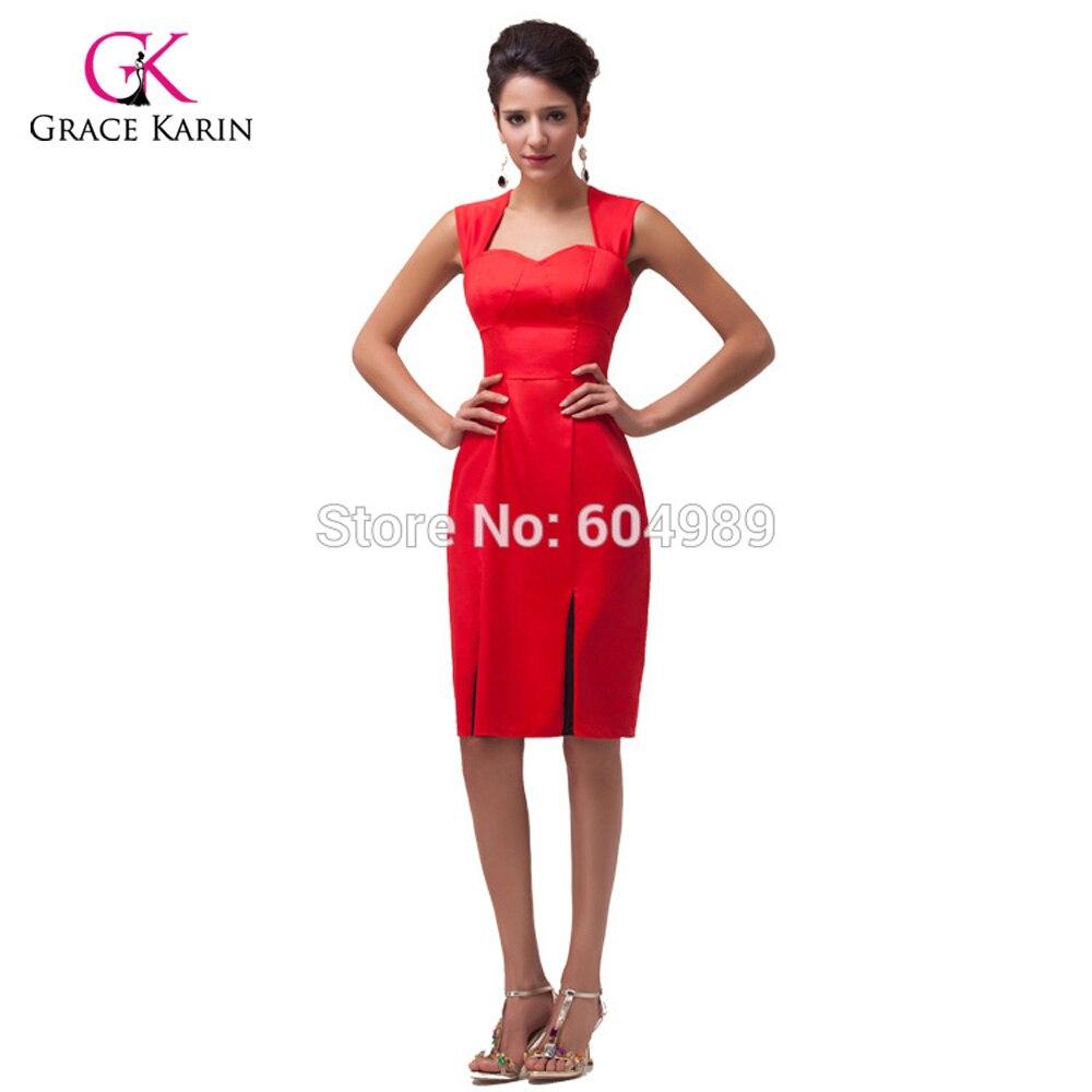 Summer Style Black/Red Women Short 50s Prom Dresses 2018 60s Retro Vintage Bodycon Cocktail Party Pencil Dress Vestidos 4591