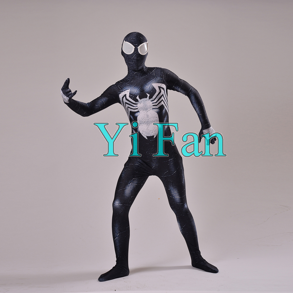 Venom Symbiote Spiderman Costume 3D Print Spandex Cosplay Suit Spiderman Costume Custom Made for Adult/Adult
