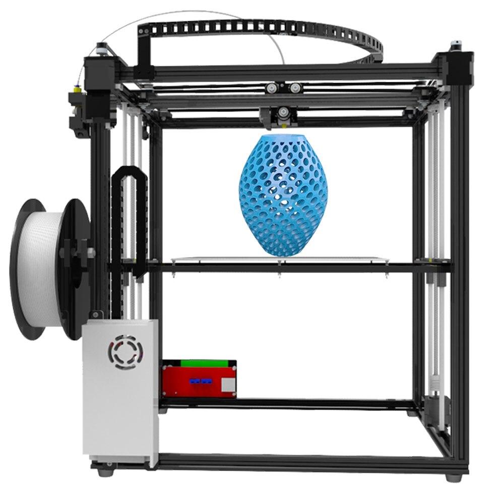 Tronxy Grande taille zone D'impression 3D imprimante X5S DIY kits en aluminium profil joint 12864 LCD contrôleur bowden extrudeuse Grand heatbed plaque - 3
