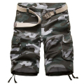 Hot Sale High Quality Mens Cargo Shorts Casual Cotton Military Camouflage Short Camo Bermuda homme Summer Size 29-42(No Belt)