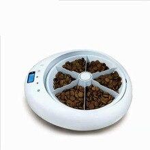 Автоматическая миска для кормушки домашних животных 6 блюд-кошка или собака голодень Авто диспенсер миска с диктофоном