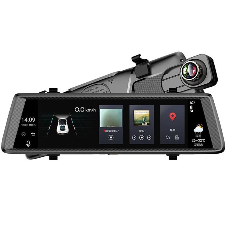 GUBANG New Car DVR 10 Inch Touch Android 5.0 GPS Navigators FHD 1080P Video Recorder Mirror WIFI 3G RAM 1GB+ROM 16GB