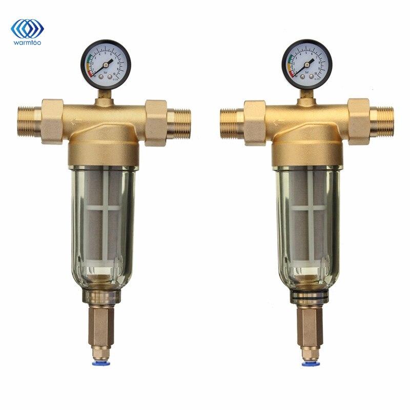 Спереди фильтр для воды взрывозащищенные морозостойкость 304 нержавеющая сталь фильтрации Core медь клапан головы 4 или 6 Sub интерфейс