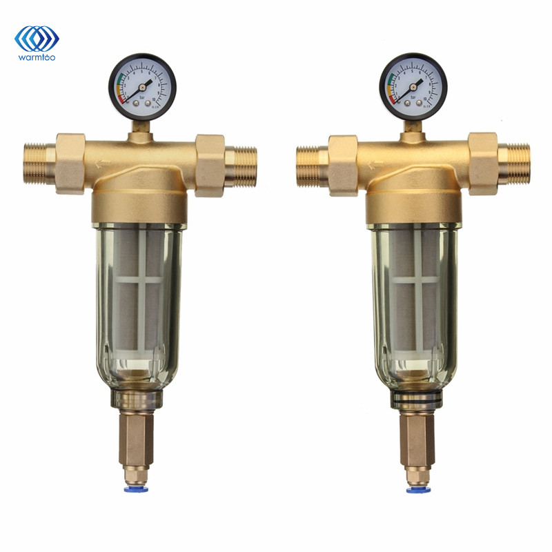 Front Water Filter Explosion Proof Frost Resistance 304 Stainless Steel Filtration Core Copper Valve Head 4 Or 6 Sub Interface 3 4 female bsp 304 stainless steel high voltage explosion proof corrugated pipe hard tube inlet outlet cold hot water 10cm 80cm