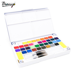 Bianyo Transparent Solid Watercolor Paint Suit 12/18/24/36 Colors Watercolor For Brush Pen Painting Drawing Students Artist Art