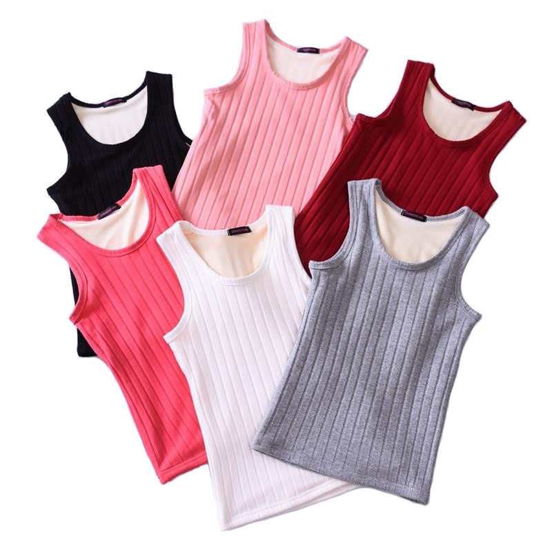 Women Velvet Vest Winter Warm Thick Underwear Plus Cashmere Bottoming Shirt Tight   Tank     Tops   Body Shape Thermal Stretch   Tops