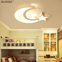 cartoon moon stars Ceiling Lights for baby's room children led ceiling lamp dimming home lighting luminaria de teto