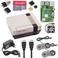 Чехол NESPi + Raspberry <font><b>Pi</b></font> 3 Model B + комплекты + 32 ГБ sd-карта + 3A адаптер питания + радиатор + 2 геймпада контроллер для Retropie