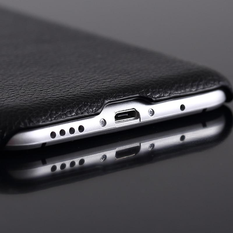 FERISING Meizu MX5 Fodral Lyxigt 100% äkta äkta skinnskydd för - Reservdelar och tillbehör för mobiltelefoner - Foto 4