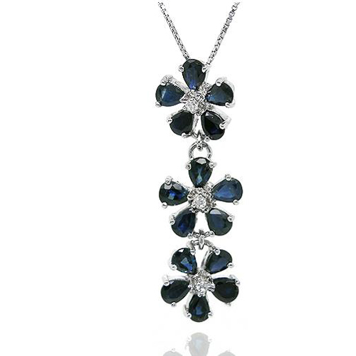 Collier Collares Qi Xuan_Dark Blue Stone Flower Pendant Necklace_Real Necklace_Quality Guaranteed_Manufacturer Directly SalesCollier Collares Qi Xuan_Dark Blue Stone Flower Pendant Necklace_Real Necklace_Quality Guaranteed_Manufacturer Directly Sales