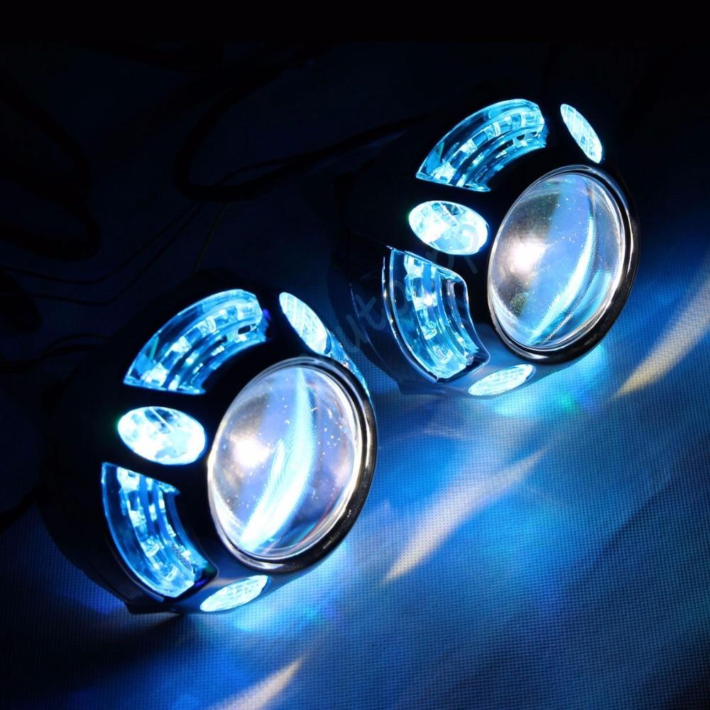 Dritat e dritës LED të automjetit RGB Angel Eyes Cover Aplikacioni - Dritat e makinave - Foto 3