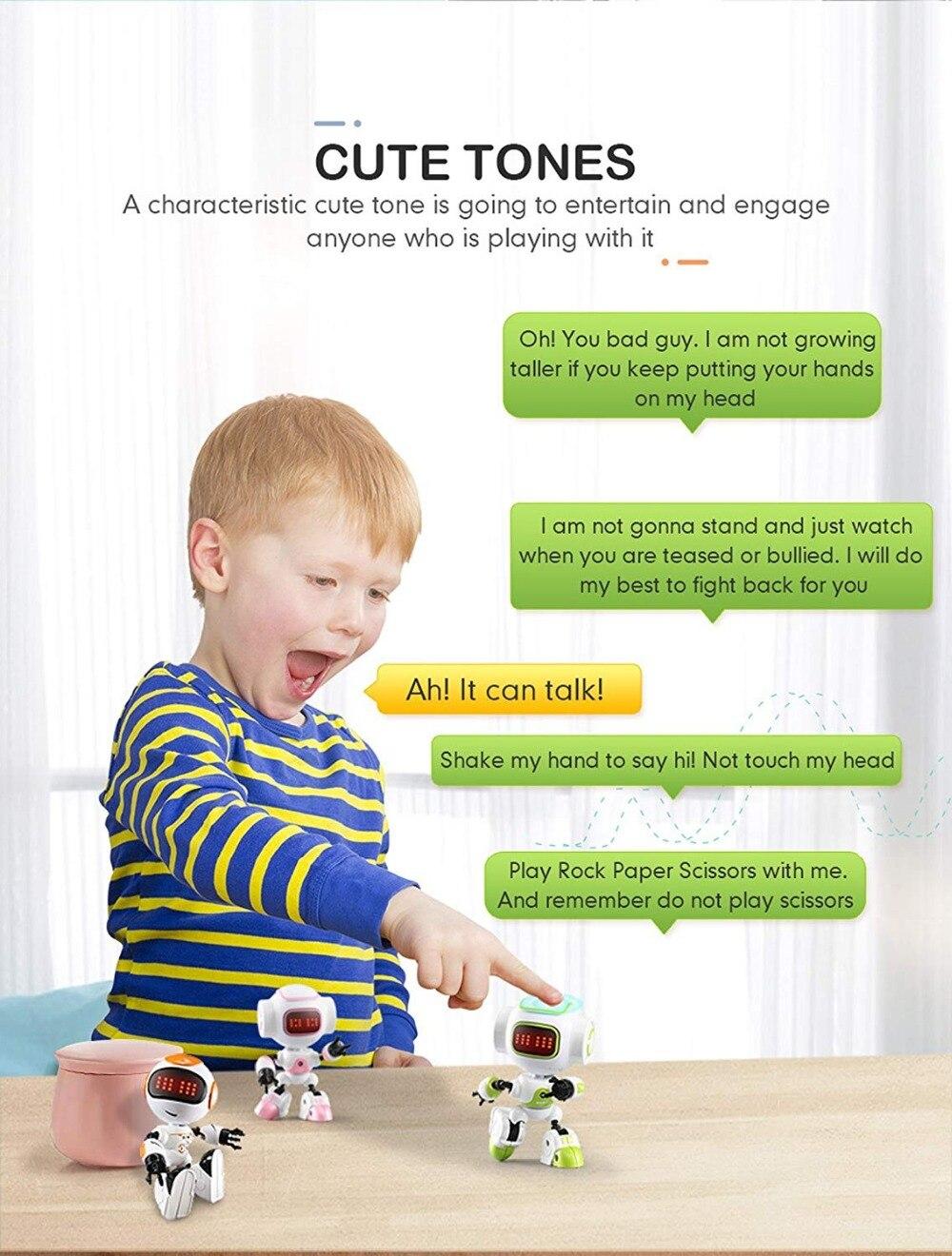 JJRC R8 LUKE Intelligent Robot Touch Control DIY Gesture Talk Smart Mini RC Robot Gift Toy 21