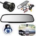 4.3 polegada Nova LCD Kit Monitor de Visão Traseira Do Carro Espelho com Câmera Reversa Estacionamento de Backup Substituição Interior Espelho Retrovisor
