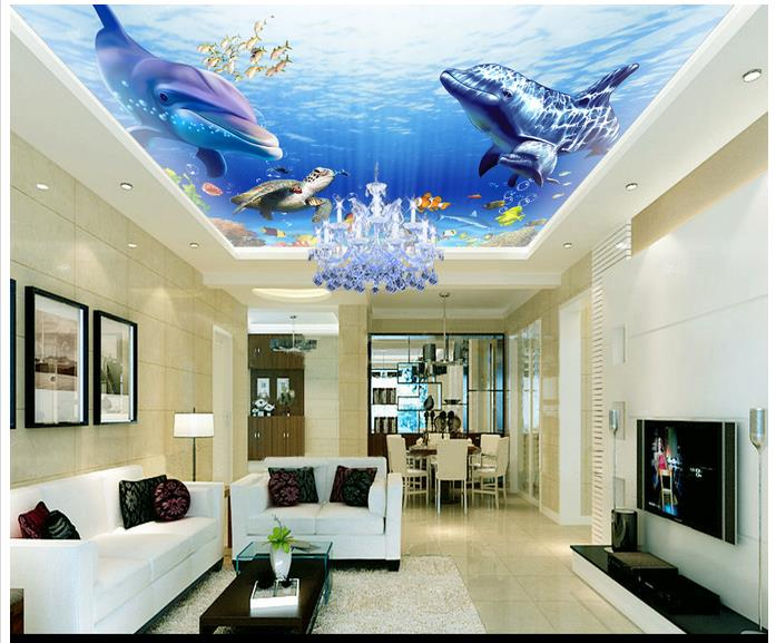 Online get cheap ocean ceiling alibaba group for Cost of a mural