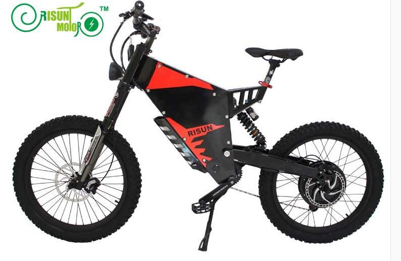 Exclusive Customized Electric Bicycle Frame /eBike Mountain 72V 3000W Motor Black Or White Frame - 5
