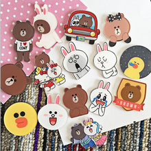 4PCS Cartoon bear Icons Acrylic Badges for Backpack Badges Clothes Plastic Badge Kawaii Pin brooch Badge bow decor backpack with bear charm 4pcs
