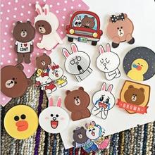 4PCS Cartoon bear Icons Acrylic Badges for Backpack Clothes Plastic Badge Kawaii Pin brooch